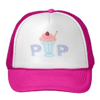 Helado púrpura gorras