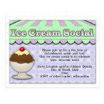 Helado púrpura/verde del Social del helado, de la  Postales