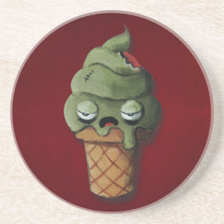 Helado putrefacto del zombi posavasos personalizados
