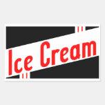 helado retro etiquetas