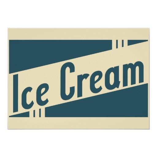 """helado retro invitación 5"""" x 7"""""""