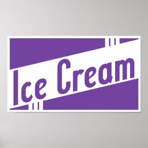 helado retro posters