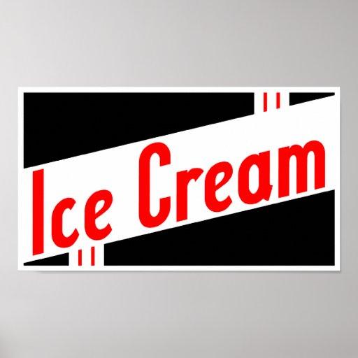 helado retro poster