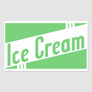 helado retro rectangular pegatinas