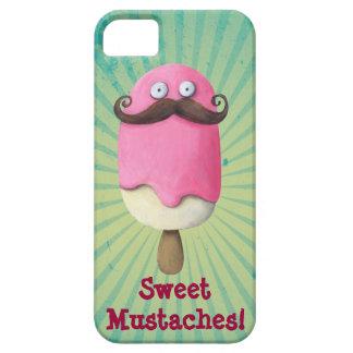 Helado rosado con los bigotes iPhone 5 funda