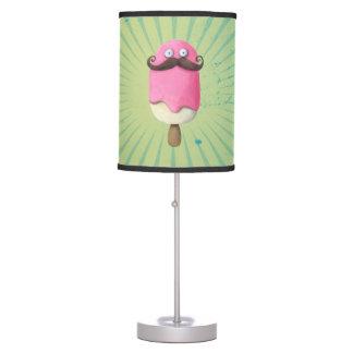 Helado rosado con los bigotes lámpara de mesilla de noche