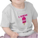 Helado rosado divertido camisetas
