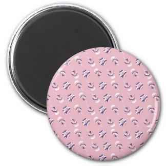 Helado rosado imán redondo 5 cm
