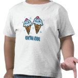 Helado somos los muchachos gemelos uno camisetas