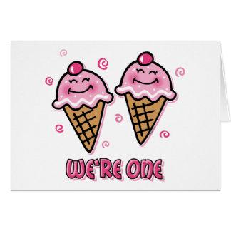 Helado somos una tarjeta gemela de los chicas