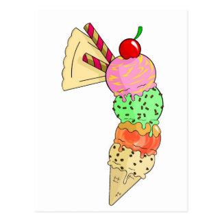 helado tarjeta postal