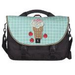 Helado y cerezas bolsas para portatil