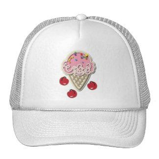Helado y cerezas gorras de camionero