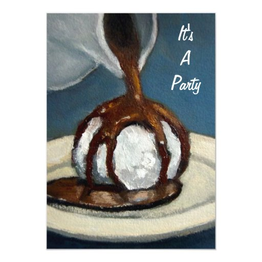 Helado y chocolate: Invitación del fiesta: Arte