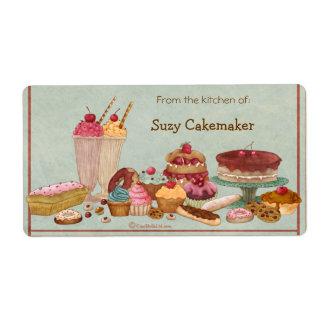 Helado y etiquetas personalizadas dulces etiquetas de envío