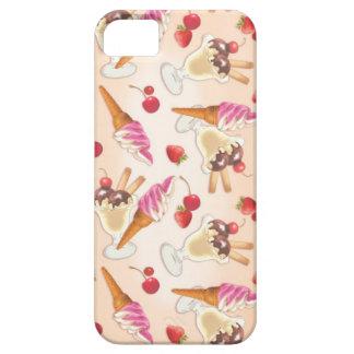 Helado y fresa de Kawaii iPhone 5 Fundas