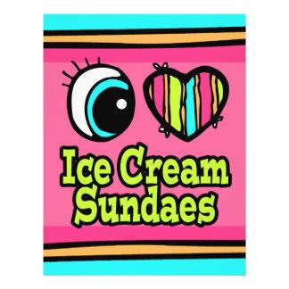 """Helados brillantes del helado del amor del corazón folleto 8.5"""" x 11"""""""