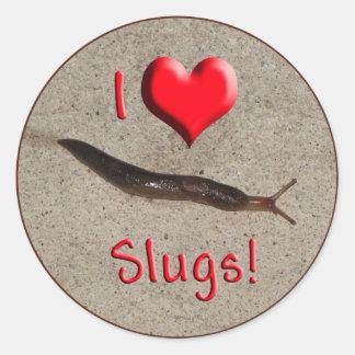 Helaine s Slug Round Sticker