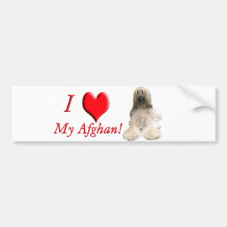 Helaine's Afghan Bumper Sticker