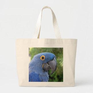 Helaine's Blue Parrot Canvas Bags