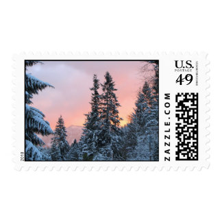 Helaine's Freezing Sunset Postage Stamps