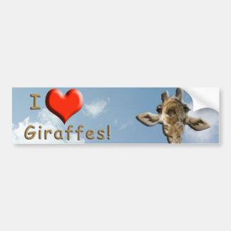Helaine's Goofy Giraffe Bumper Sticker