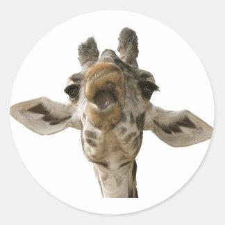 Helaine's Goofy Giraffe Round Sticker