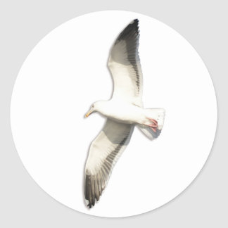 Helaine's Soaring Seagull Classic Round Sticker