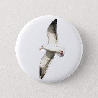 Helaine's Soaring Seagull Pinback Button