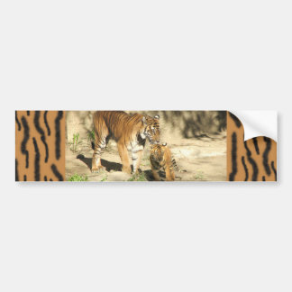 Helaine's Tiger and Cub Bumper Sticker