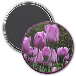 Helaine's Tulips 3 Inch Round Magnet
