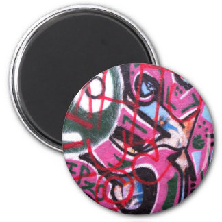Helaine's VeniceGraffiti 2 Inch Round Magnet