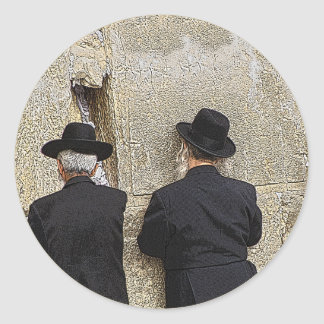Helaine's Western (Wailing) Wall Classic Round Sticker