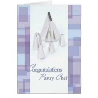 Helando las extremidades - graduado del chef de re tarjeta de felicitación