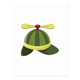 Helcopter Hat Postcard