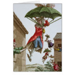 Held Aloft by Umbrellas and Butterflies Greeting Card