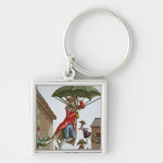 Held Aloft by Umbrellas and Butterflies Key Chain