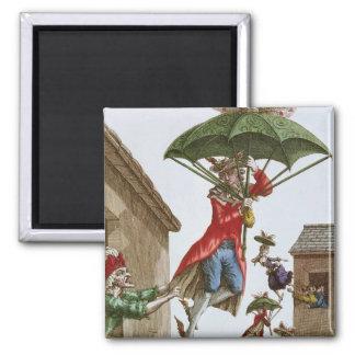 Held Aloft by Umbrellas and Butterflies Magnet