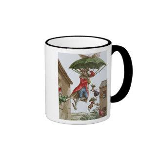 Held Aloft by Umbrellas and Butterflies Ringer Coffee Mug