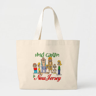 Held Captive in New Jersey Tote Bags