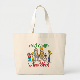 Held Captive in New York Tote Bags