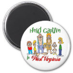 Held Captive in West Virginia 2 Inch Round Magnet