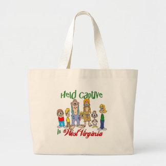 Held Captive in West Virginia Canvas Bags