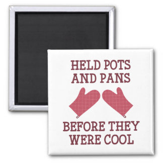 Held Pots And Pans Magnet