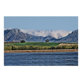 Helderberg Mountains Cape South Africa Poster