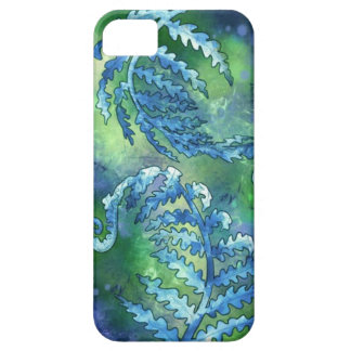 Helecho azul iPhone 5 funda