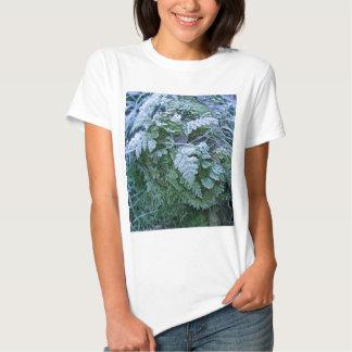 Helecho congelado en una camiseta cabida adulto camisas