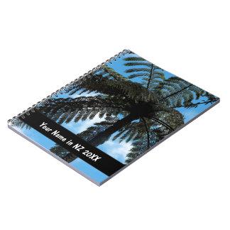 Helecho de árbol de NZ Libro De Apuntes
