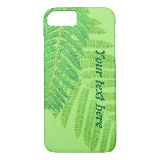 Helecho de encargo del verde del texto funda iPhone 7