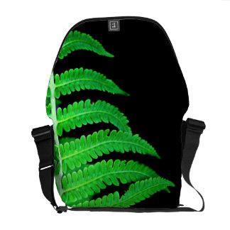 Helecho negro y verde bolsa de mensajeria